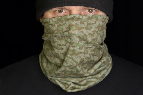 Бафф, шарф-труба в серо-зеленом камуфляже.
