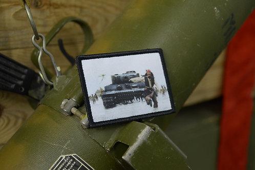 Патч Джек Воробей и немецкий танк с липучкой.