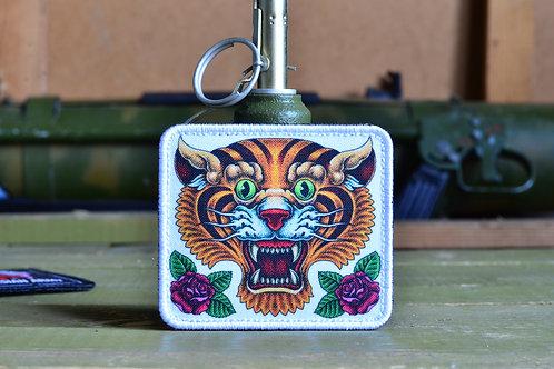 """Патч, нашивка """"Китайский тигр"""" с липучкой."""