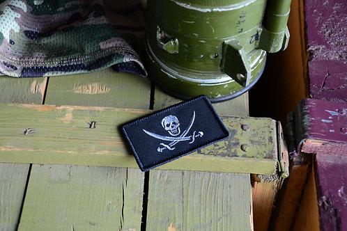 Патч флаг английского пирата Калико Джека с липучкой