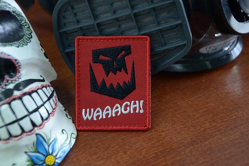 Waaagh! Патч шеврон орков из Warhammer 40K  с липучкой