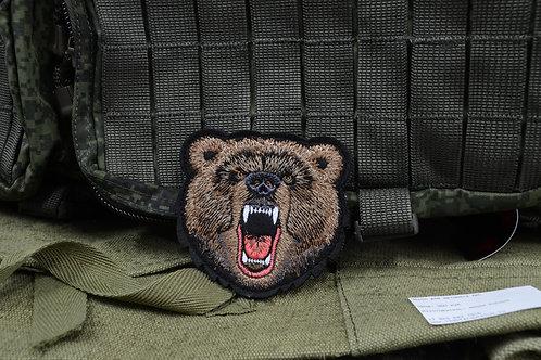 Армейская нашивка, патч морда медведя