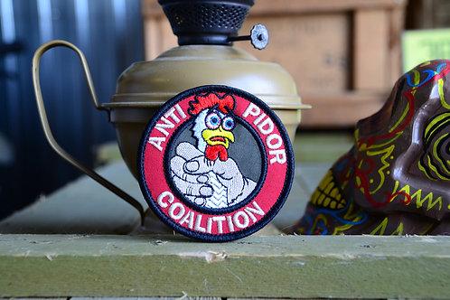 Вышитый патч, Anti Coalition с липучкой