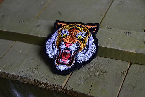 Патч, нашивка морда тигра (3D) с липучкой
