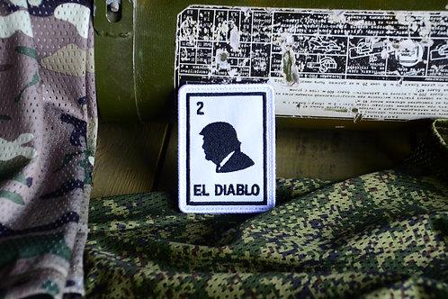 Патч Эль Диабло с липучкой. Отсылка к Мексиканской Лотереи.