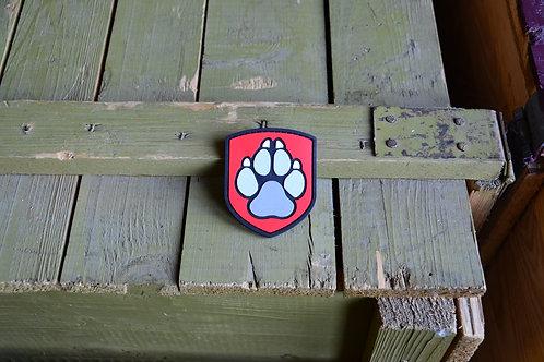 Патч, нашивка из ПВХ, К-9, лапа собаки с липучкой.