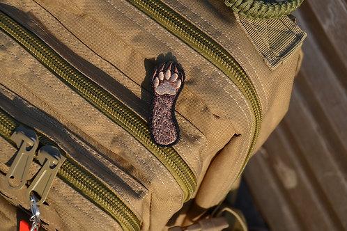 Лапка косолапого (медведя) патч нашивка с липучкой