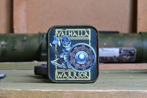 """Нашивка, патч """"Valhalla Warriors"""" с липучкой."""