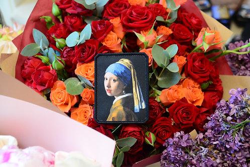 Патч Девушка с жемчужной серёжкой Яна Вермеера, с липучкой