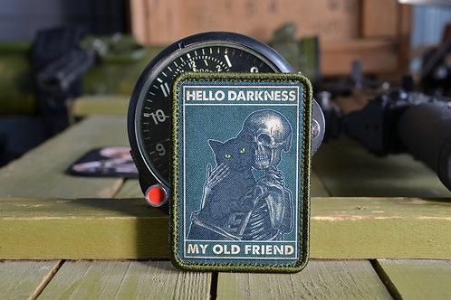 Патч, нашивка,Hello darkness my old friend с липучкой.