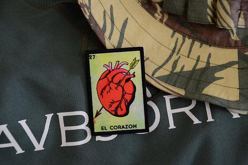 Патч карта Мексиканской лотереи El Corazon (Сердце) с липучкой.