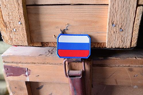 Патч, нашивка Российский триколор с липучкой