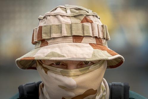 Снайперская панама в Шведском пустынном камуфляже M90
