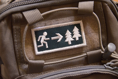 Патч с липучкой ,эвакуационный выход в лес.