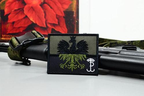 Патч, Нашивка, Флаг Польши полевой с Котвицей