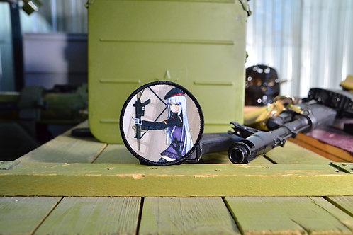 Патч, нашивка Girls Frontline, T-girls HK-416 с липучкой.