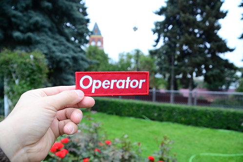 Патч Operator, нашивкас липучкой, с отсылкой к Supreme:)