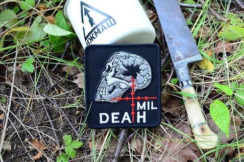 Патч Mil Dead с липучкой  Размер 8х8 см