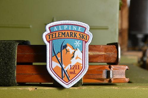 Патч, нашивка Alpine Telemark SKI, с липучкой.
