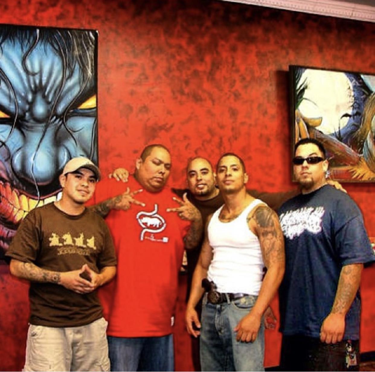 Alan Padilla, Boog RIP, myself, my bro Angel, and Big Gus