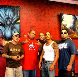 Alan Padilla, Boog RIP, myself, my bro Angel, and Big Gus