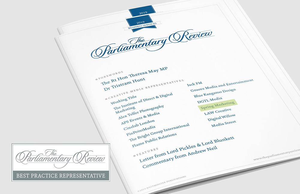 Spring Marketing as a Parliamentary Review Contributor