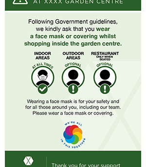Face coverings poster design - free use