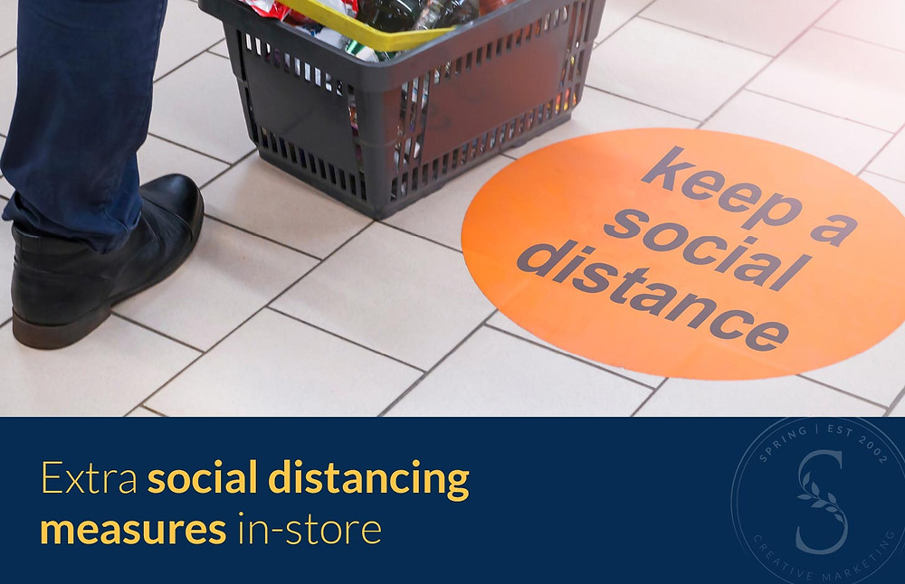 Extra social distancing measures in store