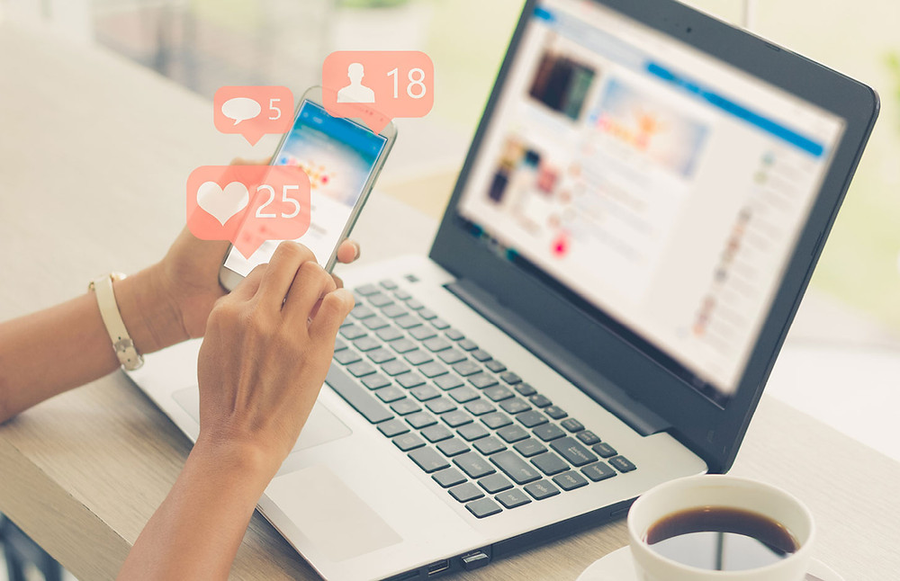 Increase in engagement on Facebook and Instagram