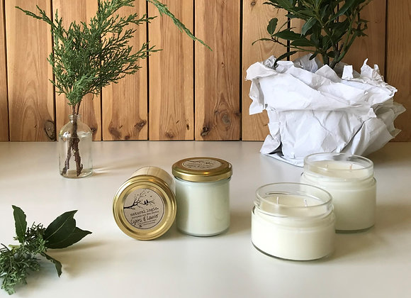 organic cypress & laurier european soy candle