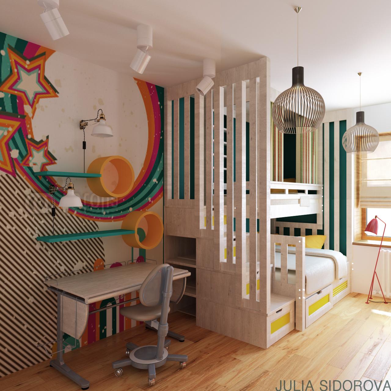 Проект детской комнаты.