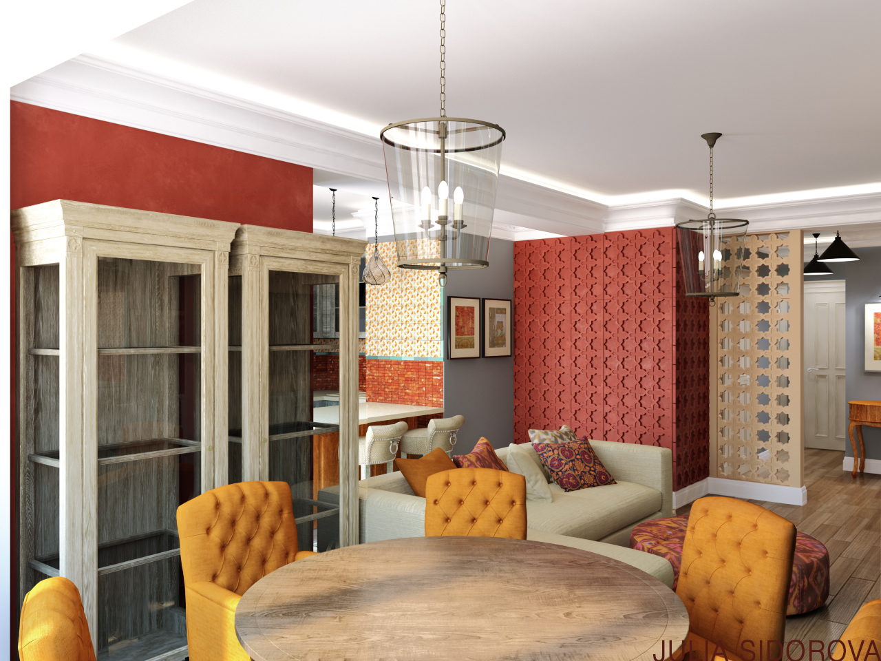 Проект интерьера квартиры 93 м кв.