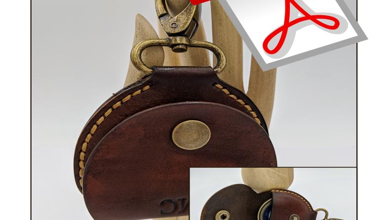 Challenge Coin Keychain Pattern/Coin Holder Pattern/Leather Pattern