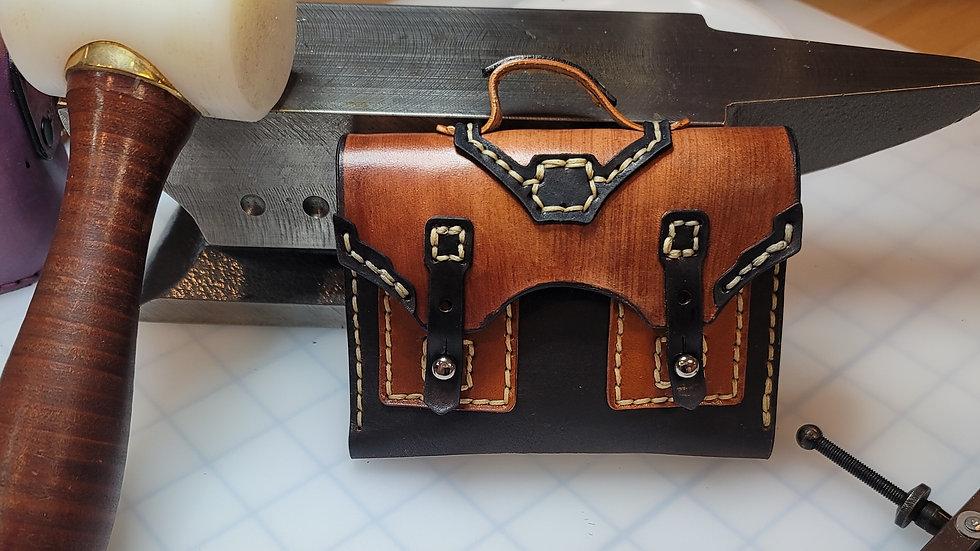 Brown Briefcase Leather Wallet/Women's Wallet