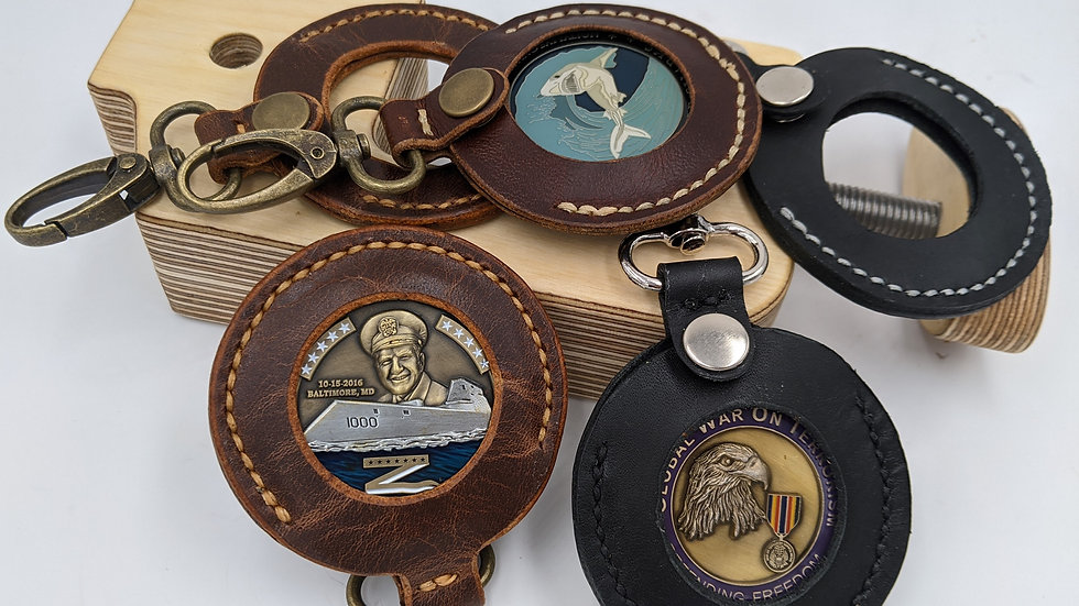 Challenge Coin Keychain/ Coin Holder/Military Coin holder
