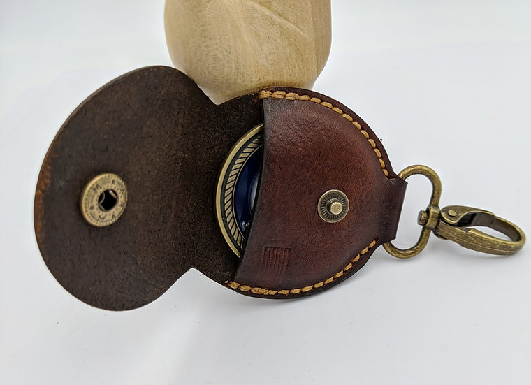 Hand made Challenge Coin Keychain/ Coin Holder/Military Coin holder