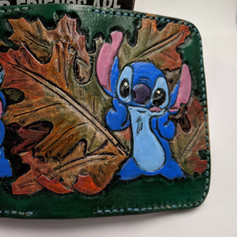 Lilo and Stitch green wallet