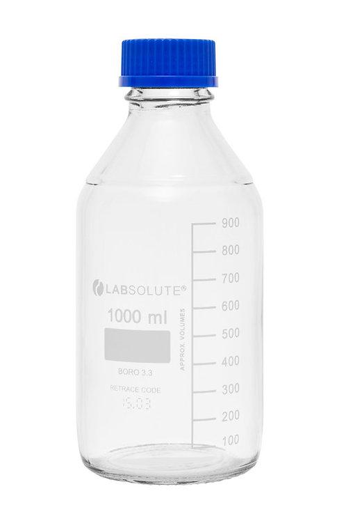 Glasflasche mit Schraubgewinde 1L