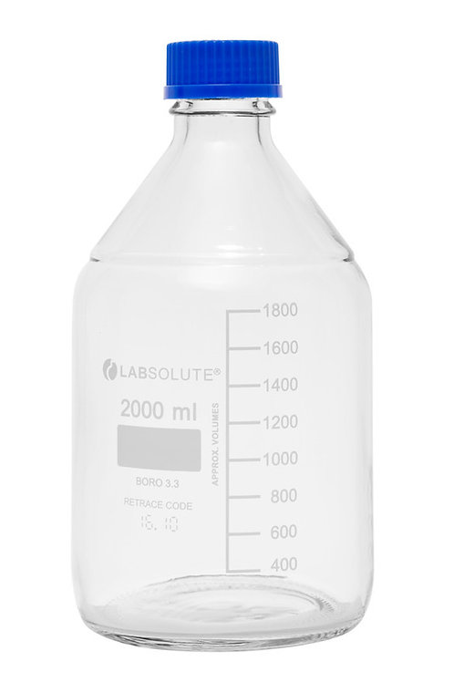 Glasflasche mit Schraubgewinde 2L