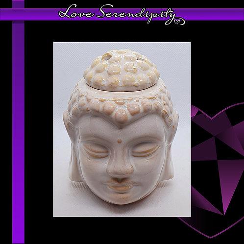 Ceramic Round Buddha Wax Melter White