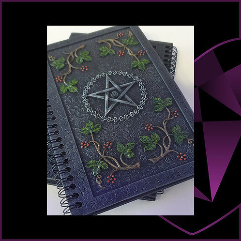 Wiccan Book Of Shadows Resin Cover Notebook