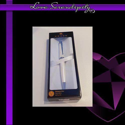 Cross Beverly White Ballpoint Pen