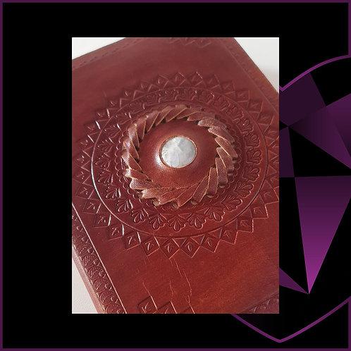 Handmade Leather Bound Notebook Moonstone