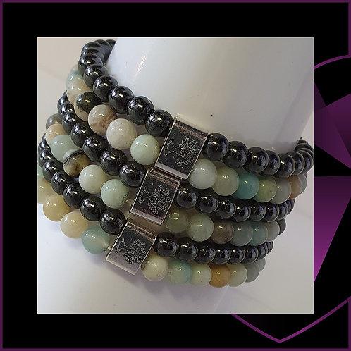 Magnetic Gemstone Bracelet Amazonite