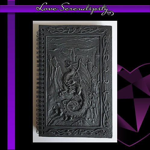 Dragons Kingdom Resin Cover Notebook