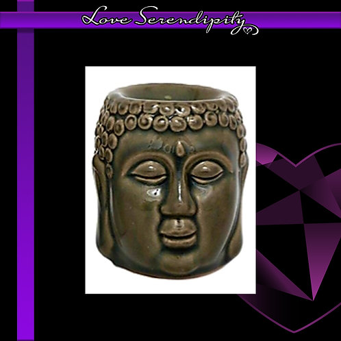 Ceramic Buddha Wax Melter Green