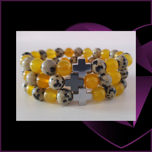 PROTECTION Dalmatian Jasper and Yellow Agate