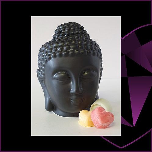Ceramic Buddha Wax Melter Black
