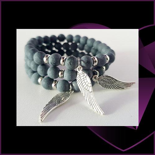 Angel Wing Black Agate