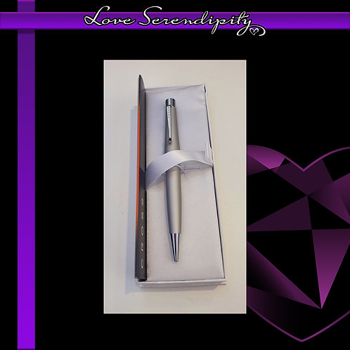 Cross Beverly Brushed Silver Ballpoint Pen